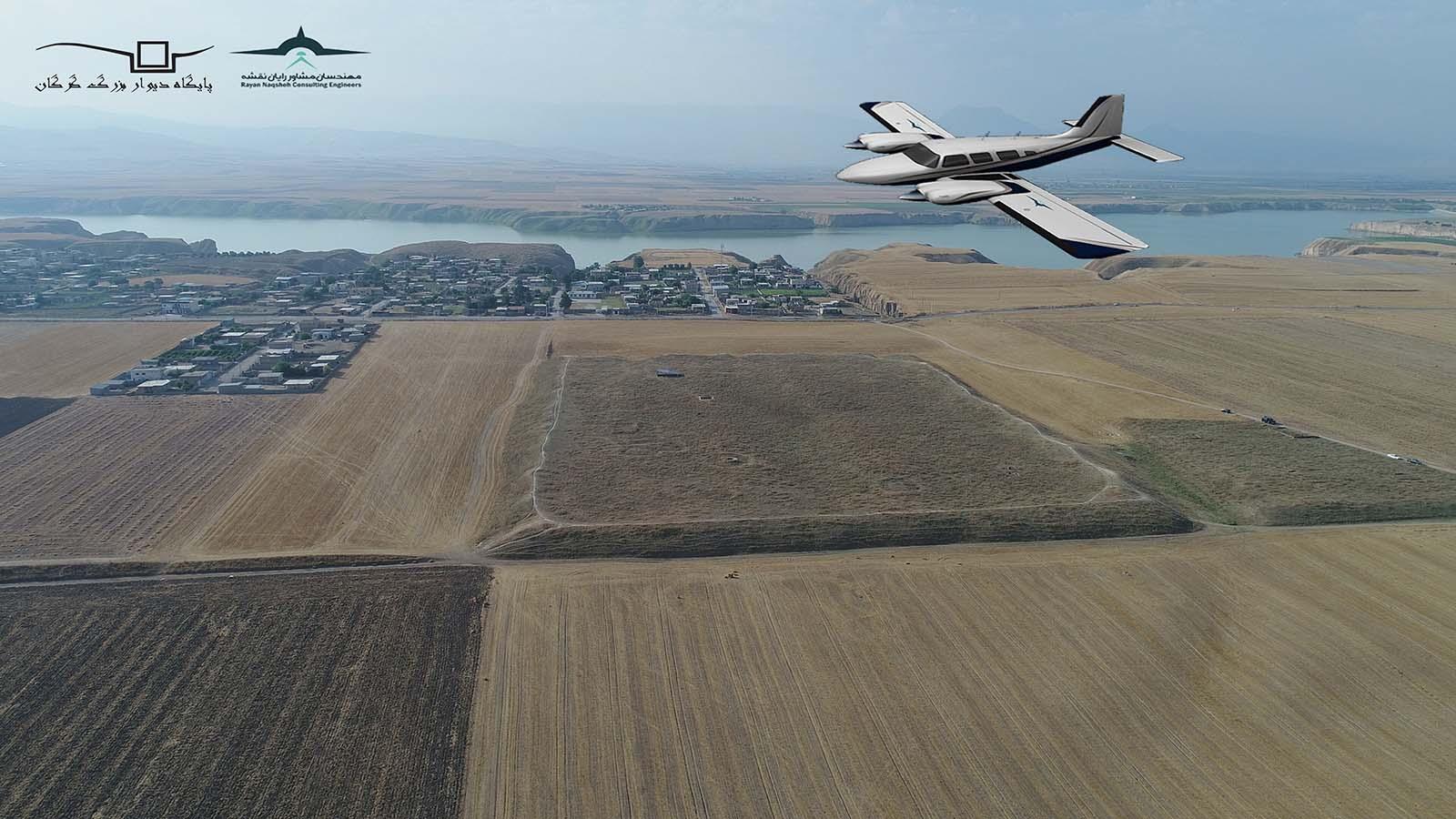 سومین پرواز با هواپیما بر فراز دیوار بزرگ گرگان در پایان قرن 14 خورشیدی