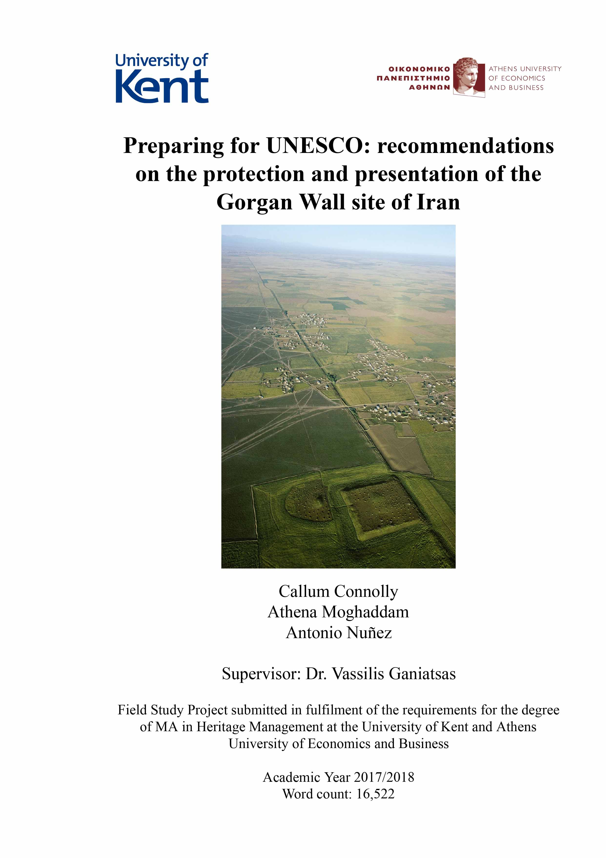 Prepare for UNESCO recommendations About protection and presentation Gorgan Iran wall site